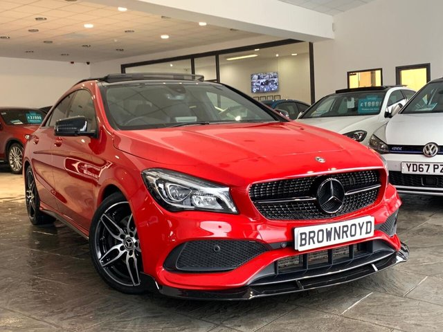 USED 2017 67 MERCEDES-BENZ CLA 2.1 CLA 220 D AMG LINE 4d 174 BHP PAN ROOF+NIGH PK+BRM STYLING