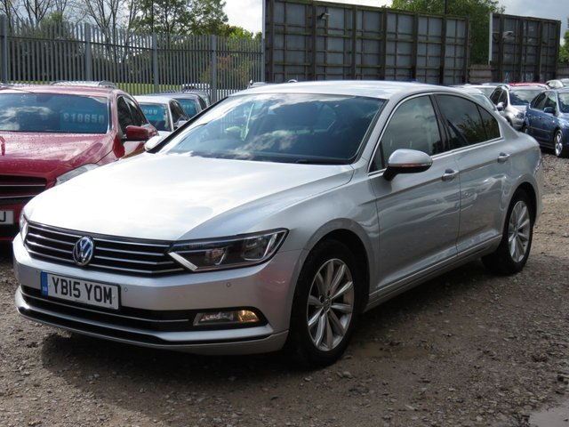 USED 2015 15 VOLKSWAGEN PASSAT 2.0 SE BUSINESS TDI BLUEMOTION TECHNOLOGY 4d 148 BHP ULEZ COMPLIANT SAT NAV,  FRONT AND REAR SENSORS ULEZ COMPLIANT,HEATED SEATS, FRONT AND REAR PARKING SENSORS, DAB, BLUETOOTH, ACC-ADAPATIVE CRUISE CONTROL, VW HISTORY