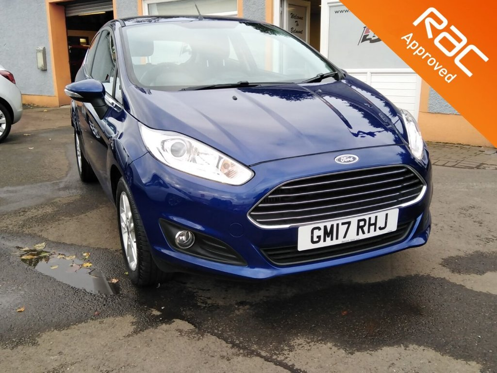 "USED 2017 17 FORD FIESTA 1.0 ZETEC 3d 99 BHP Colour Sat Nav, Bluetooth, Quick clear Screen, 15"" Alloys"