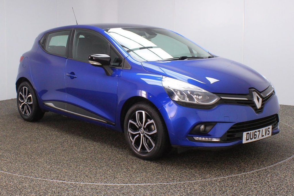 USED 2017 67 RENAULT CLIO 0.9 DYNAMIQUE NAV TCE ECO 5DR 1 OWNER 89 BHP FULL SERVICE HISTORY + SATELLITE NAVIGATION + BLUETOOTH + CRUISE CONTROL + MULTI FUNCTION WHEEL + AIR CONDITIONING + DAB RADIO + AUX/USB PORTS + ELECTRIC WINDOWS + ELECTRIC MIRRORS + 16 INCH ALLOY WHEELS