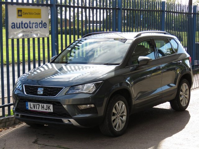 USED 2017 17 SEAT ATECA 1.6 TDI ECOMTOTIVE SE 5d 114 BHP 1 OWNER, HISTORY, APPLE CAR PLAY, ANDROID AUTO, BLUETOOTH, TWIN USB