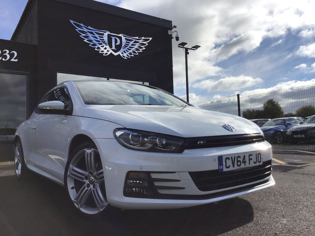 USED 2014 64 VOLKSWAGEN SCIROCCO 2.0 R LINE TDI BLUEMOTION TECHNOLOGY 2d 150 BHP Dynaudio Soundpack