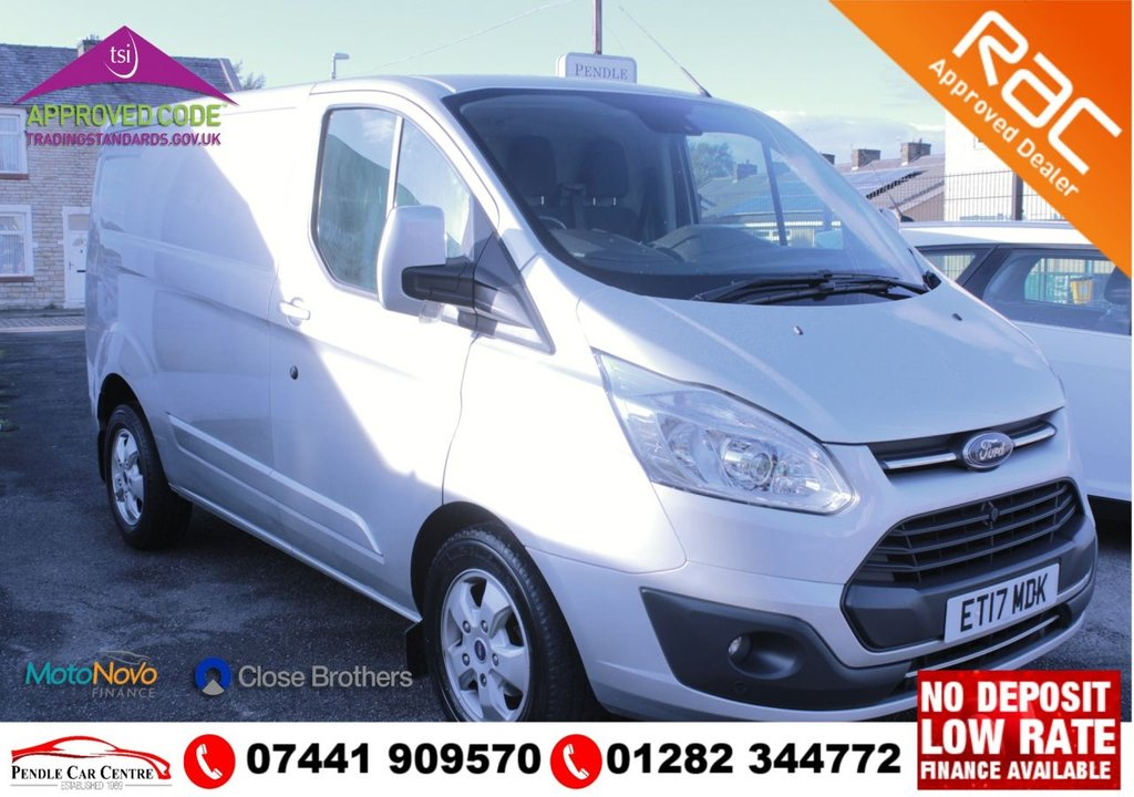 "USED 2017 17 FORD TRANSIT CUSTOM 2.0 270 LIMITED LR P/V 129 BHP (Price Plus VAT) FSH + 2 Keys + 1 Owner + 6 SPEED GEAR BOX + Electric Windows+ FORD AUDIO  Dab Radio/Single Cd Player + AUX + USB Audio Ports + Good  TYRES All Round With 17"" Alloys + Rear Parking Sensors"