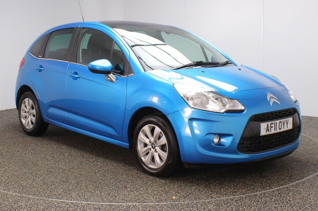 USED 2011 11 CITROEN C3 1.4 VTR PLUS 5DR 96 BHP FULL SERVICE HISTORY + BLUETOOTH + CRUISE CONTROL + AIR CONDITIONING + RADIO/CD + AUX/USB PORTS + PRIVACY GLASS + ELECTRIC WINDOWS + ELECTRIC MIRRORS + 15 INCH ALLOY WHEELS