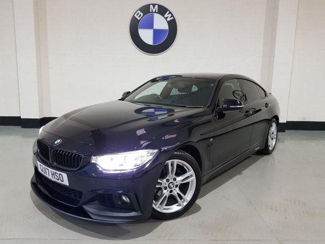 USED 2017 17 BMW 4 SERIES 2.0 420D M SPORT GRAN COUPE 4d 188 BHP 1 Owner/Pro Sat Nav/18 In Alloys/Heated Leather/£30 Tax