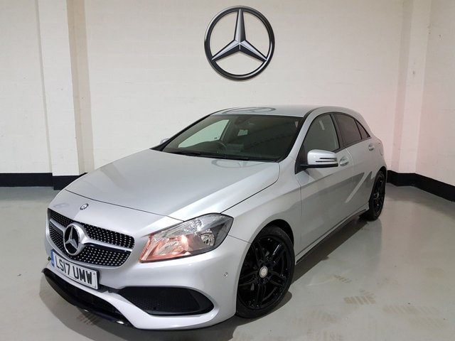 USED 2017 17 MERCEDES-BENZ A-CLASS 1.6 A 180 AMG LINE EXECUTIVE 5d 121 BHP 1 Owner/Sat -Nav/Heated Leather/Camera/Park Sensors