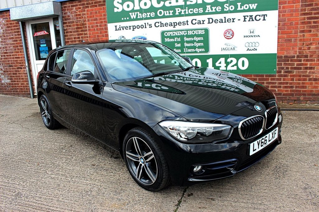USED 2017 66 BMW 1 SERIES 1.5 116D SPORT 5d 114 BHP +ONE OWNER +BLUETOOTH +NAV.