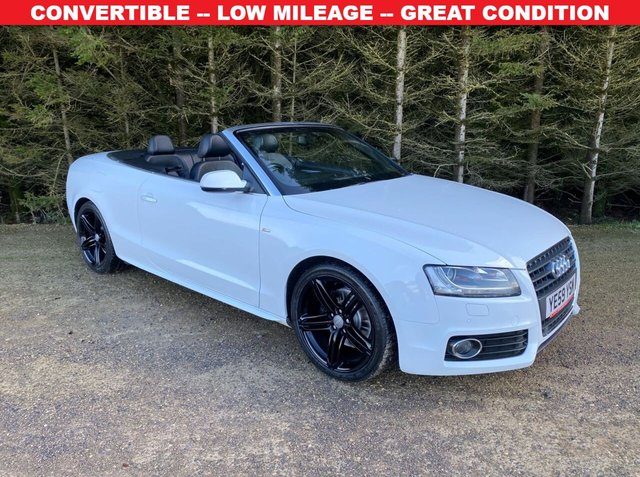 USED 2009 59 AUDI A5 2.0 TFSI S LINE 2d 208 BHP CONVERTIBLE -- LOW MILEAGE -- GREAT CONDITION