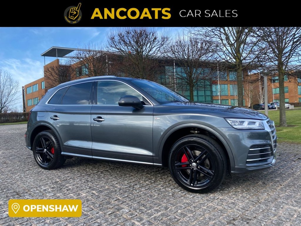 USED 2018 18 AUDI Q5 2.0 TFSI QUATTRO S LINE 5d AUTO 248 BHP 1 Owners+Finance Available+PCP+Full History+Xenon Lights+Electric Boot+Sat-Nav+Half Heated Leather+2 Keys+ Nationwide Delivery+Nationwide Warranty+1 Year Manufacturer Warranty+Apple Play