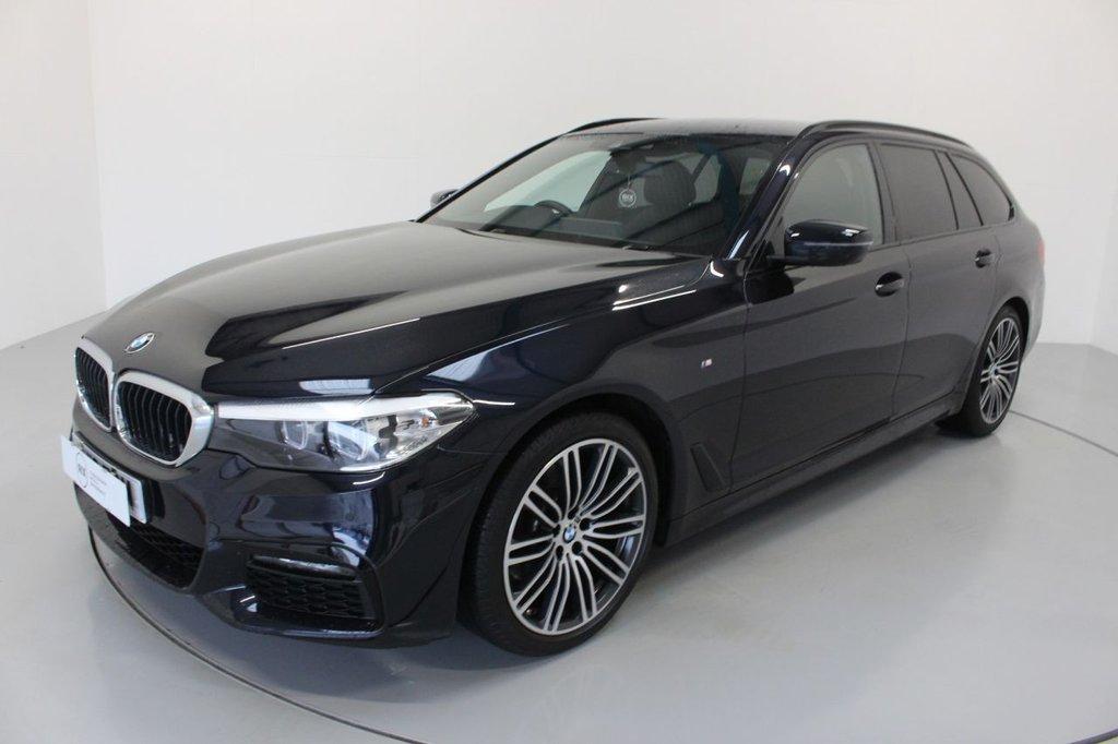 USED 2019 19 BMW 5 SERIES 2.0 520D M SPORT TOURING 5d AUTO-HARMAN KARDON-REVERSE CAMERA,-HEATED BLACK DAKOTA LEATHER-UPGRADE 19