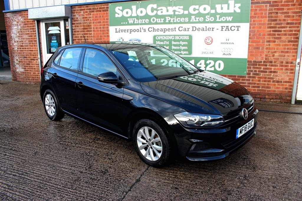 USED 2018 18 VOLKSWAGEN POLO 1.0 SE 5d 74 BHP +APPLE CAR PLAY +BLUETOOTH DAB