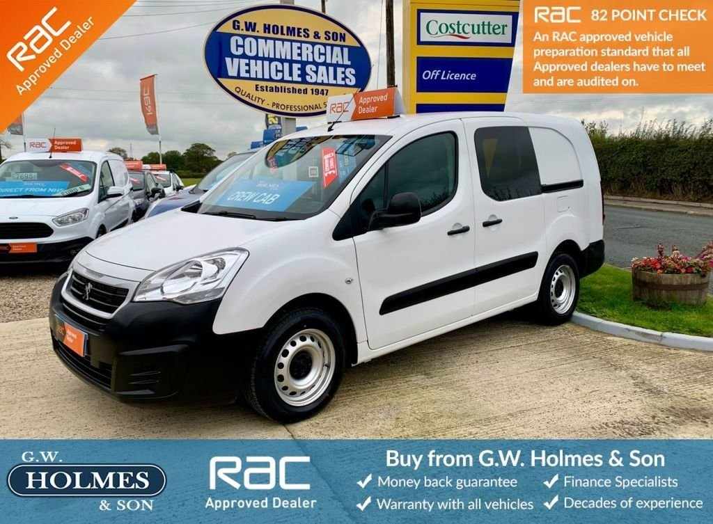 USED 2016 66 PEUGEOT PARTNER S CRC 1.6 BLUEHDI 100 BHP CREW CAB L2 H1**DIRECT NHS**ONLY 9K**