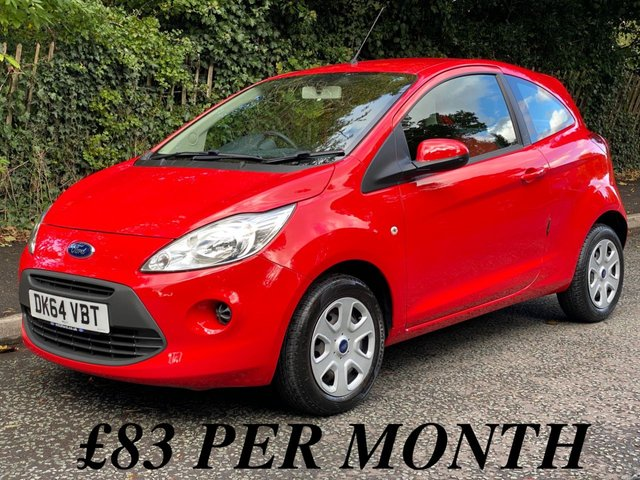 USED 2014 64 FORD KA 1.2 EDGE 3d INCREDIBLE LOW MILEAGE