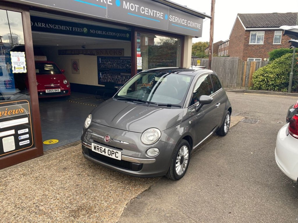 USED 2014 64 FIAT 500 1.2 LOUNGE 3d 69 BHP PANROOF - BLUETOOTH - USB - AUX - AIRCON