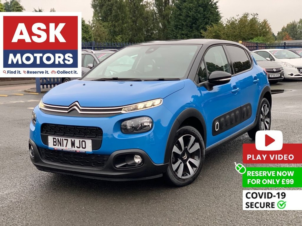 USED 2017 17 CITROEN C3 1.6 BLUEHDI FLAIR S/S 5d 98 BHP 1 REG KEEPER S/BOOK 3 STAMPS CITROEN