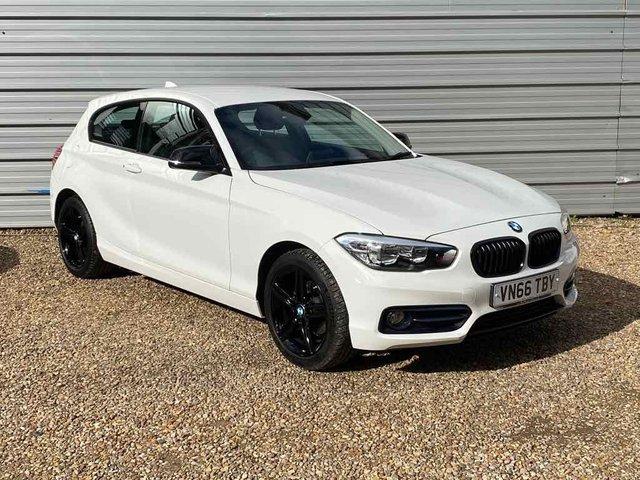 "USED 2016 66 BMW 1 SERIES 1.5 118I SPORT 3d 134 BHP Alpine White 17"" Black Alloys"