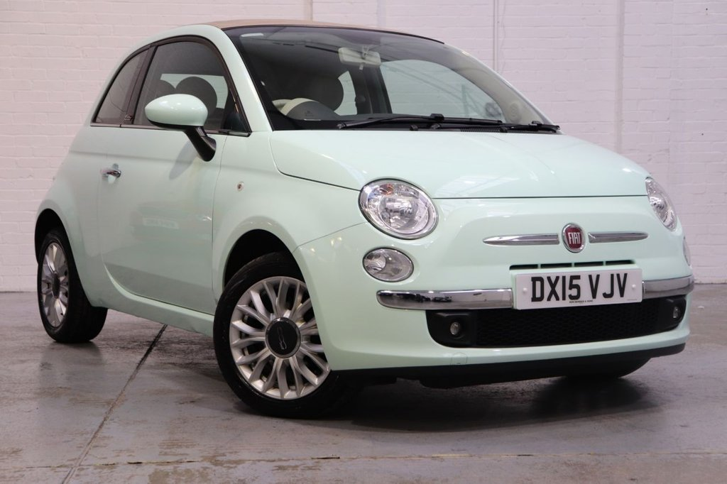 USED 2015 15 FIAT 500 1.2 C LOUNGE 3d 69 BHP Long Mot + Recently Serviced