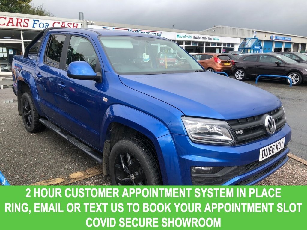 USED 2017 66 VOLKSWAGEN AMAROK 3.0 DC V6 TDI AVENTURA 4MOTION 4d 5 Seat 4x4 AUTO Very Rare Double Cab Pickup Stunning in Blue with Black Alloys Black Side Steps Black Roll Bar Fantastic Volkswagen Amarok 3.0 is the prefect 5 seat 4x4 Auto
