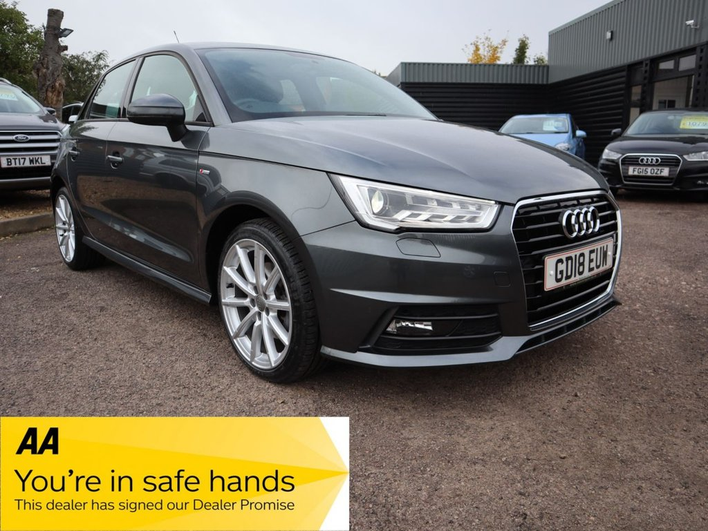 USED 2018 18 AUDI A1 1.4 SPORTBACK TFSI S LINE NAV 5d 123 BHP LESS THAN 20,000 MILES AND ONLY ONE OWNER FROM NEW
