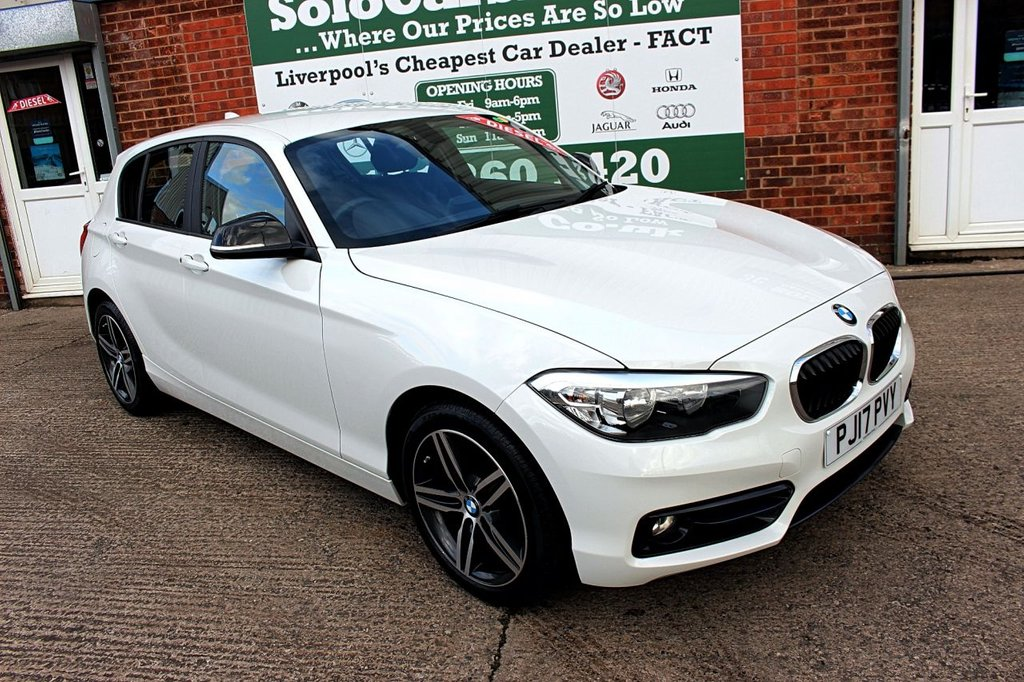 USED 2017 17 BMW 1 SERIES 2.0 118D SPORT 5d 147 BHP ONE OWNER +SPORTS ALLOYS +SAT NAV.