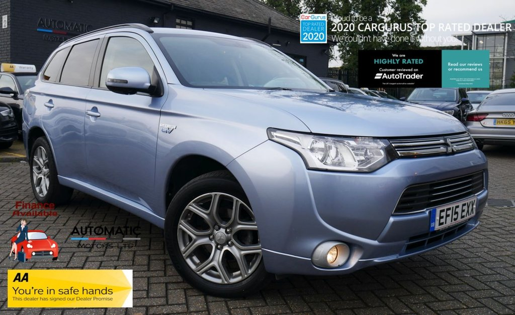 USED 2015 15 MITSUBISHI OUTLANDER 2.0 PHEV GX3H 5d 162 BHP 2015 MITSUBISHI OUTLANDER, 1 OWNER FROM NEW, BLUETOOTH, PARKING SENSORS, CRUISE CONTROL