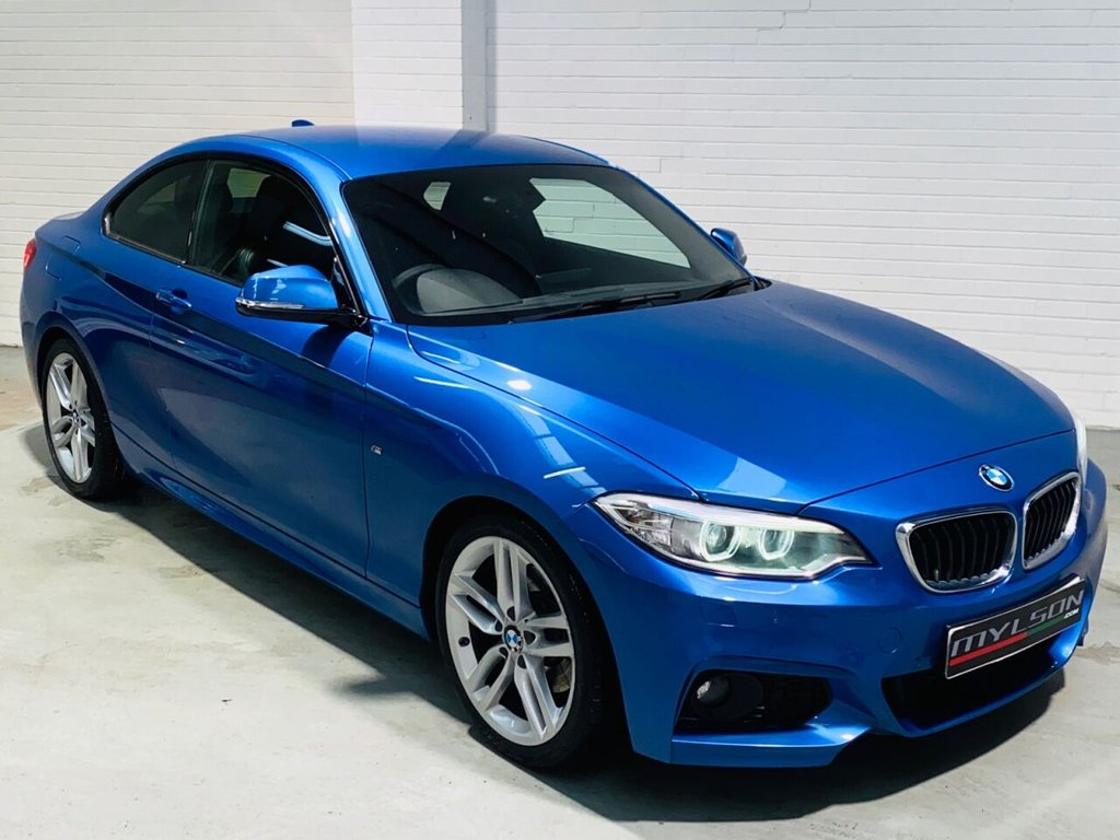 USED 2014 14 BMW 2 SERIES 2.0 225D M SPORT 2d 215 BHP Rare 225d Model, Pro Nav/Media Pack, Heated Leather Interior, Privacy Glass, Xenon Headlights, Full BMW Service History