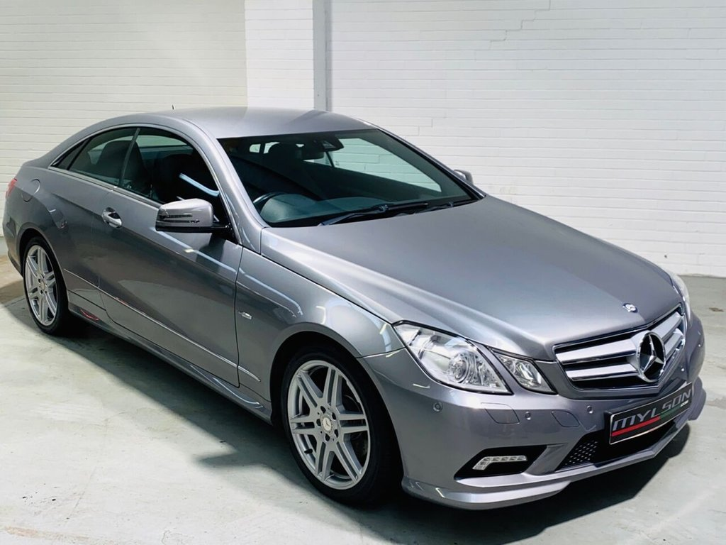 USED 2011 11 MERCEDES-BENZ E-CLASS 2.1 E220 CDI BLUEEFFICIENCY SPORT 2d 170 BHP DUE IN.. AMG Pack, Black Leather Interior, Heated Seats, Bluetooth