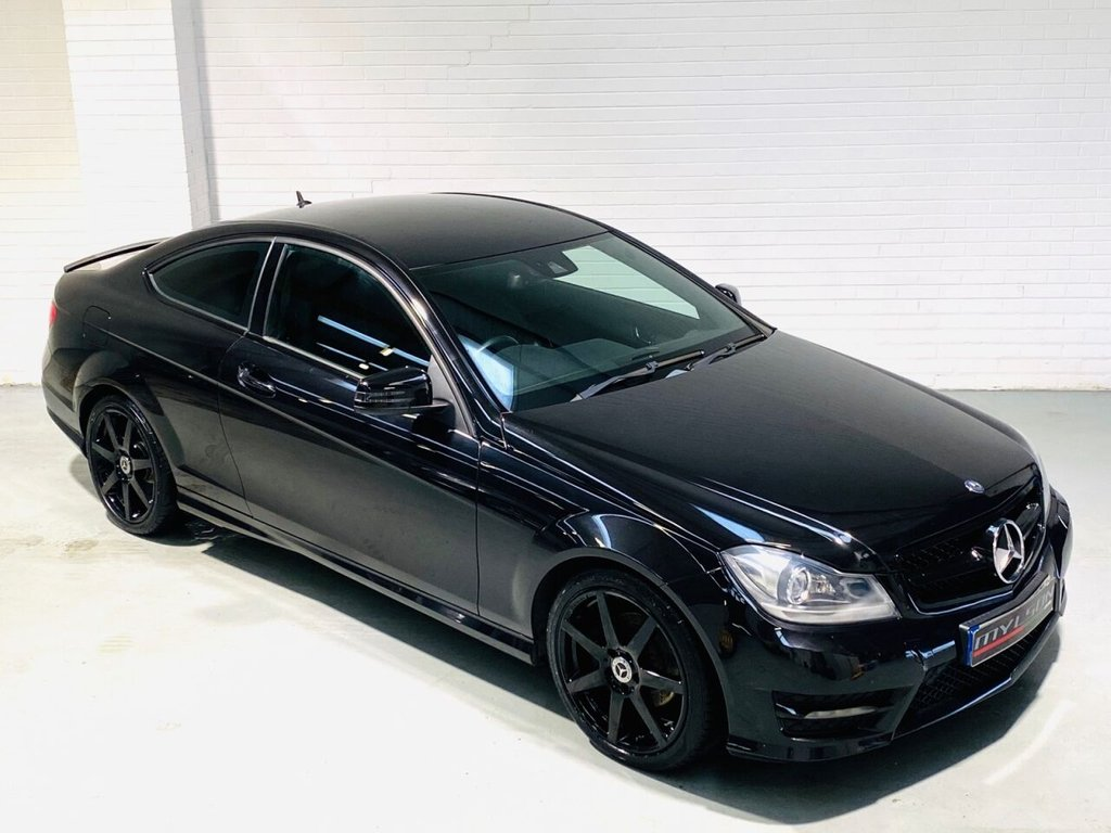 USED 2012 62 MERCEDES-BENZ C-CLASS 2.1 C220 CDI BLUEEFFICIENCY AMG SPORT 2d 170 BHP DUE IN.. Low Mileage AMG Sport Coupe, Black with Black Interior
