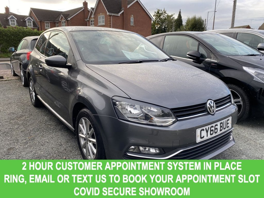 USED 2016 66 VOLKSWAGEN POLO 1.0 MATCH 3d Petrol Manual Hatchback STYLISH HATCHBACK WITH ONE FORMER OWNER + FULL VOLKSWAGEN SERVICE HISTORY