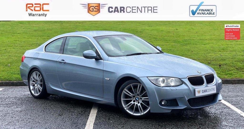 USED 2010 L BMW 3 SERIES 2.0 320d M Sport 2dr Cream leather+ Sat Nav+ Cruise