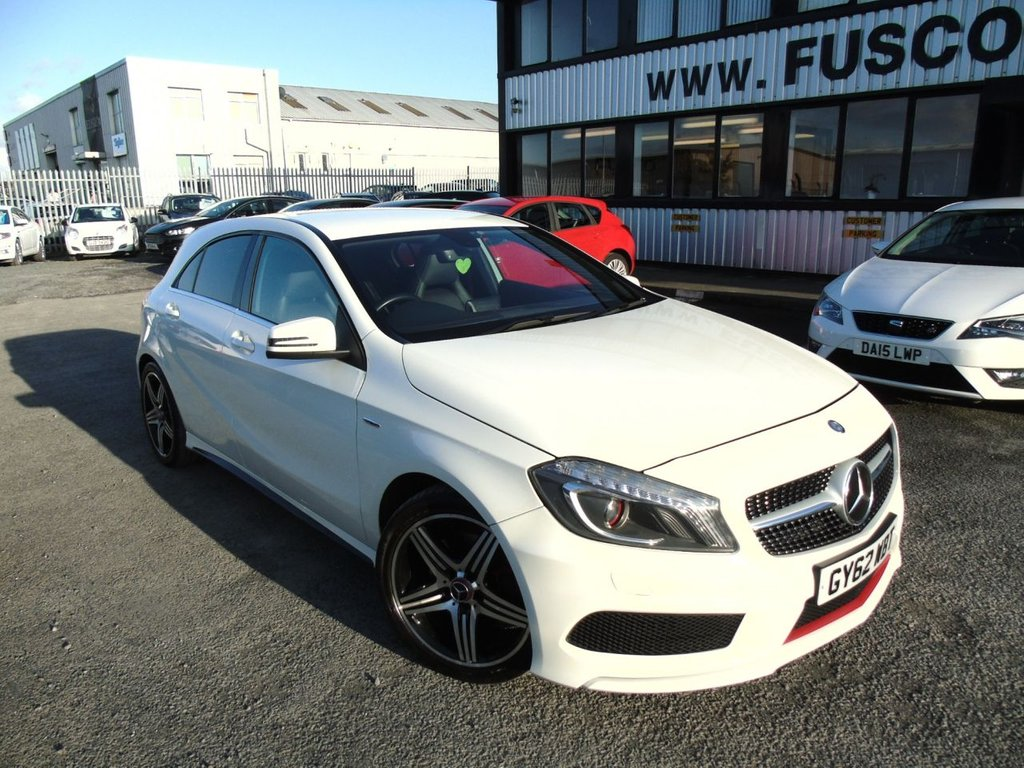 USED 2012 62 MERCEDES-BENZ A-CLASS 2.0 A250 BLUEEFFICIENCY ENGINEERED BY AMG 5d 211 BHP £254 a month, T&Cs apply.