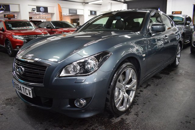 USED 2014 64 INFINITI Q70 3.7 S PREMIUM 4d 320 BHP ULTRA RARE - ONLY ONE AVAILABLE IN THE UK - Q70S 3.7 PREMIUM 320BHP - ULEZ COMPLIANT - NAV -  LEATHER - HEATED / COOLED SEATS - SUNROOF - R/CAMERA