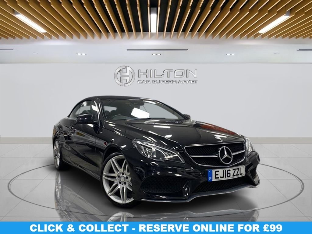 """USED 2016 16 MERCEDES-BENZ E-CLASS 2.1 E 220 D AMG LINE EDITION 2d 174 BHP Navigation System, Leather Seats, 19"""" Alloy Wheels, Parking Sensor(s), Climate Control"""