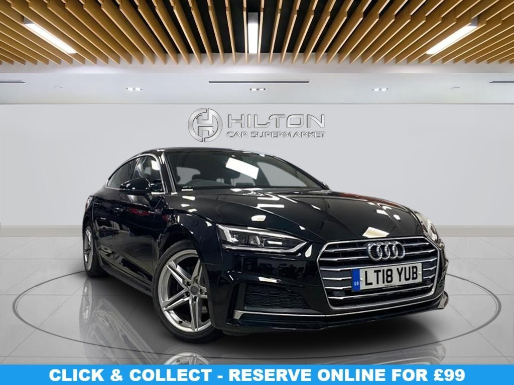 "USED 2018 18 AUDI A5 2.0 SPORTBACK TFSI S LINE 5d 188 BHP Navigation System, 1/2 Leather Seats, 18"" Alloy Wheels, Parking Sensor(s), Climate Control"