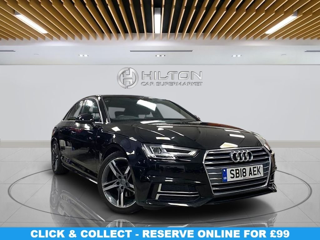 "USED 2018 18 AUDI A4 2.0 TFSI S LINE 4d 188 BHP Automatic Transmission, Navigation System,18"" Alloy Wheels, Half-Leather Seats, Parking Sensor(s), Climate Control"