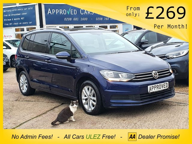 USED 2016 16 VOLKSWAGEN TOURAN 1.6 SE FAMILY TDI BLUEMOTION TECHNOLOGY DSG 5d 109 BHP