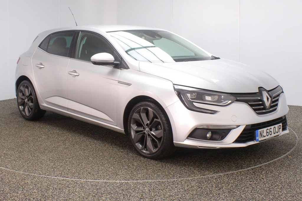 USED 2016 66 RENAULT MEGANE 1.5 SIGNATURE NAV DCI 5DR 1 OWNER AUTO 110 BHP FULL RENAULT SERVICE HISTORY + FREE 12 MONTHS ROAD TAX + LEATHER SEATS + SATELLITE NAVIGATION + REVERSING CAMERA + PARKING SENSOR + BLUETOOTH + CRUISE CONTROL + CLIMATE CONTROL + MULTI FUNCTION WHEEL + LED HEADLIGHTS + PRIVACY GLASS + DAB RADIO + AUX/USB PORTS + ELECTRIC WINDOWS + ELECTRIC/HEATED/FOLDING DOOR MIRRORS + 18 INCH ALLOY WHEELS