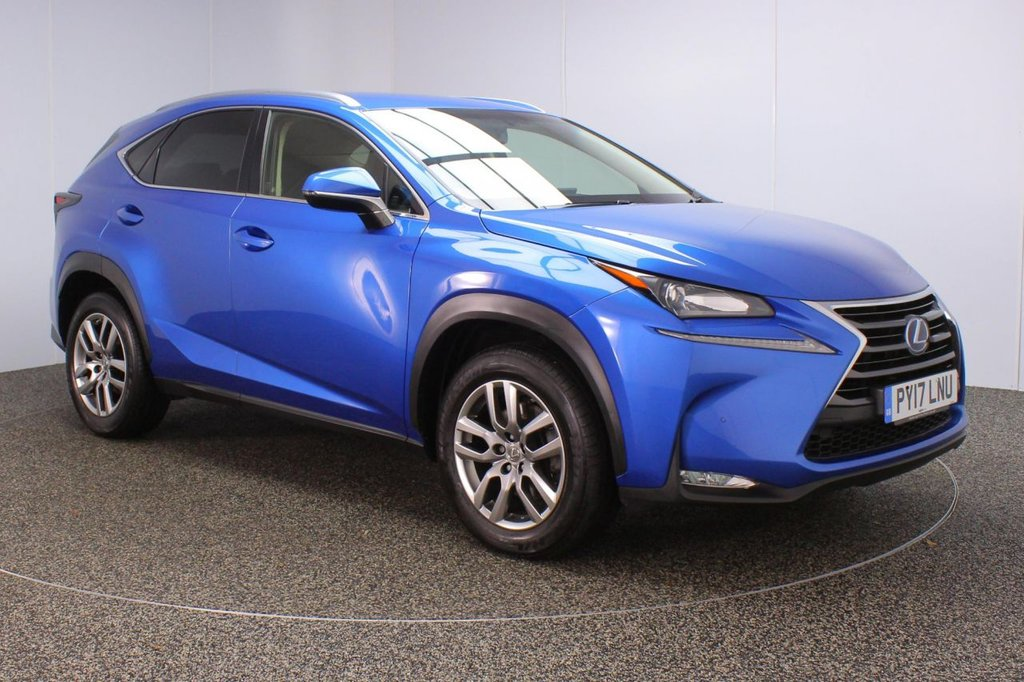 USED 2017 17 LEXUS NX 2.5 300H LUXURY 5DR 1 OWNER AUTO 153 BHP FULL SERVICE HISTORY + HEATED LEATHER SEATS + SATELLITE NAVIGATION + REVERSING CAMERA + PARKING SENSOR + BLUETOOTH + CRUISE CONTROL + CLIMATE CONTROL + MULTI FUNCTION WHEEL + XENON HEADLIGHTS + PRIVACY GLASS + DAB RADIO + USB/AUX PORTS + ELECTRIC FRONT SEATS + ELECTRIC WINDOWS + ELECTRIC/HEATED/FOLDING DOOR MIRRORS + 18 INCH ALLOY WHEELS