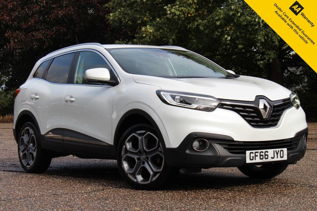 "USED 2016 66 RENAULT KADJAR 1.5 DYNAMIQUE S NAV DCI 5d 110 BHP ** 1 LADY OWNER FROM NEW ** FULL SERVICE HISTORY ** BRAND NEW ADVISORY FREE MOT + SERVICE ** SAT NAV ** FRONT + REAR PARKING AID ** CRUISE CONTROL ** CLIMATE CONTROL ** BLUETOOTH ** LANE ASSIST ** AUTO LIGHTS + WIPERS ** 19"" APPOLO DIAMOND CUT ALLOYS ** ONLY £20 ROAD TAX - 70+ MPG ** LOW RATE £0 DEPOSIT FINANCE AVAILABLE **"
