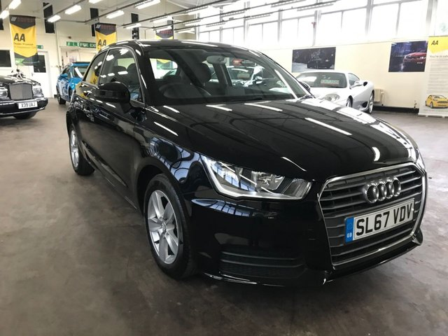 USED 2017 67 AUDI A1 1.0 TFSI SE 3d 93 BHP + 1 OWNER  +  FULL SERVICE HISTORY + 12 MONTHS WARRANTY + 12 MONTHS MOT +