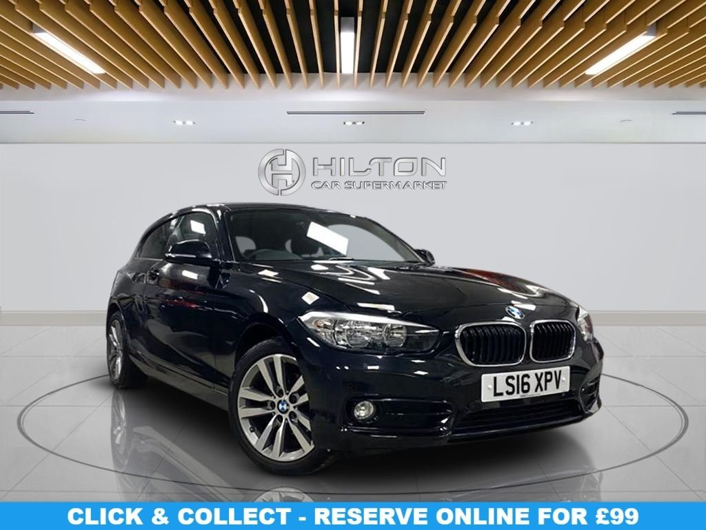 "USED 2016 16 BMW 1 SERIES 1.5 116D SPORT 3d 114 BHP 18"" Alloys, Sport Package, Navigation System, Parking Sensors, Privacy Glass, Climate Control"