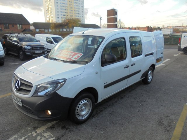USED 2016 66 MERCEDES-BENZ CITAN 1.5 111 CDI DUALINER 110 BHP LONG WHEEL BASE TWIN SIDE DOORS 5 SEATS AIR CON CRUISE CONTROL HEATED SCREEN   FULL HISTORY ,ONE OWNER  FIVE SEAT CREW CAB CITAN MERCEDES