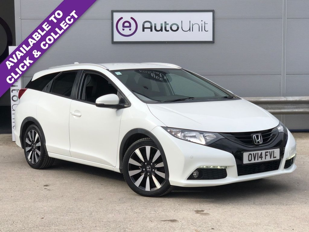 USED 2014 14 HONDA CIVIC 1.6 I-DTEC SR TOURER 5d 118 BHP NAV + CAMERA + HEATED LEATHER + FULL HONDA SERVICE HISTORY