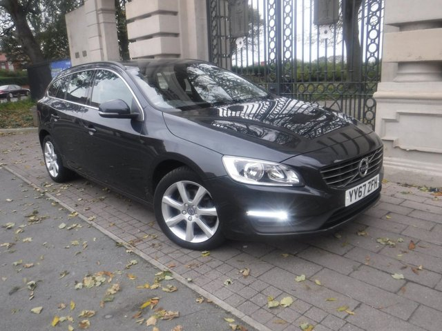 USED 2018 67 VOLVO V60 2.0 D3 SE NAV 5d 148 BHP *** FINANCE & PART EXCHANGE WELCOME *** 1OWNER FROM NEW SAT/NAV BLUETOOTH PHONE VOICE COMMAND FULL BLACK LEATHER INTERIOR PARKING SENSORS DAB RADIO