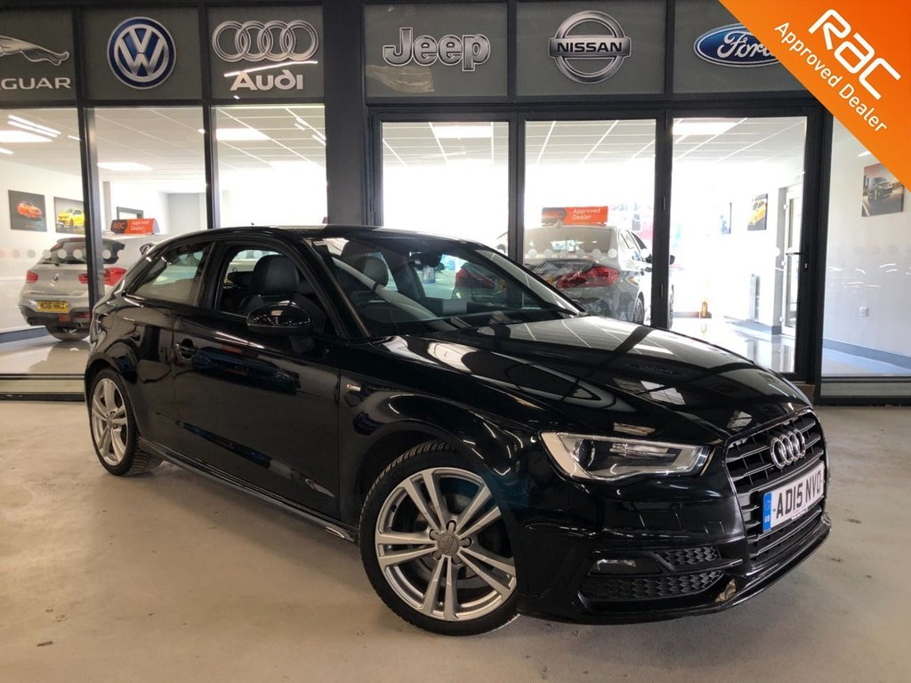 USED 2015 15 AUDI A3 1.6 TDI S line 3dr Complementary 12 Months RAC Warranty and 12 Months RAC Breakdown Cover Also Receive a Full MOT With All Advisory Work Completed, Fresh Engine Service and RAC Multipoint Check Before Collection/Delivery
