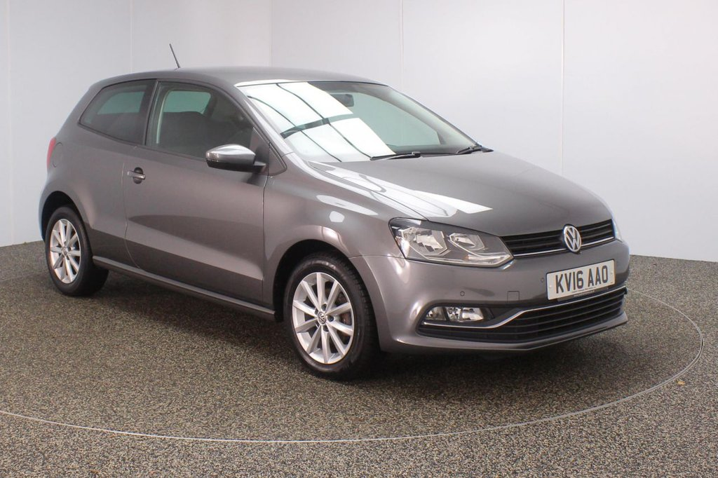 USED 2016 16 VOLKSWAGEN POLO 1.2 MATCH TSI 3DR 1 OWNER 89 BHP SERVICE HISTORY + £20 12 MONTHS ROAD TAX + PARKING SENSOR + BLUETOOTH + CRUISE CONTROL + MULTI FUNCTION WHEEL + AIR CONDITIONING + PRIVACY GLASS + DAB RADIO + ELECTRIC WINDOWS + ELECTRIC/HEATED DOOR MIRRORS + ALLOY WHEELS