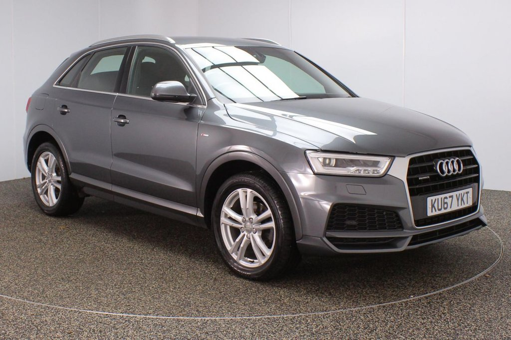 USED 2017 67 AUDI Q3 2.0 TFSI QUATTRO S LINE EDITION 5DR 1 OWNER AUTO 178 BHP FULL AUDI SERVICE HISTORY + HALF LEATHER SEATS + PARKING SENSOR + BLUETOOTH + CRUISE CONTROL + CLIMATE CONTROL + MULTI FUNCTION WHEEL + XENON HEADLIGHTS + DAB RADIO + ELECTRIC WINDOWS + ELECTRIC/HEATED/FOLDING DOOR MIRRORS + 18 INCH ALLOY WHEELS