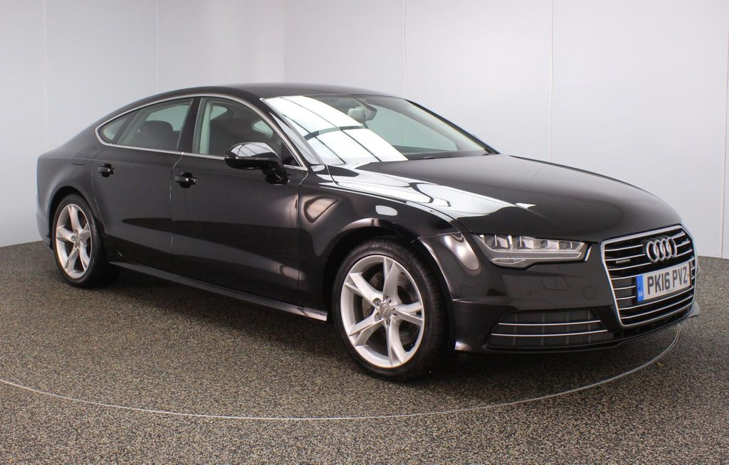 USED 2016 16 AUDI A7 3.0 SPORTBACK TDI QUATTRO SE EXECUTIVE 5DR 1 OWNER AUTO 215 BHP FULL AUDI SERVICE HISTORY + HEATED LEATHER SEATS + SATELLITE NAVIGATION + PARKING SENSOR + BLUETOOTH + CRUISE CONTROL + CLIMATE CONTROL + MULTI FUNCTION WHEEL + XENON HEADLIGHST + DAB RADIO + ELECTRIC/MEMORY FRONT SEATS + ELECTRIC WINDOWS + ELECTRIC/HEATED DOOR MIRRORS + 19 INCH ALLOY WHEELS