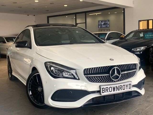 USED 2016 66 MERCEDES-BENZ CLA 1.6 CLA 180 AMG LINE 4d 121 BHP PAN ROOF+SAT NAV+R-CAM+FSH