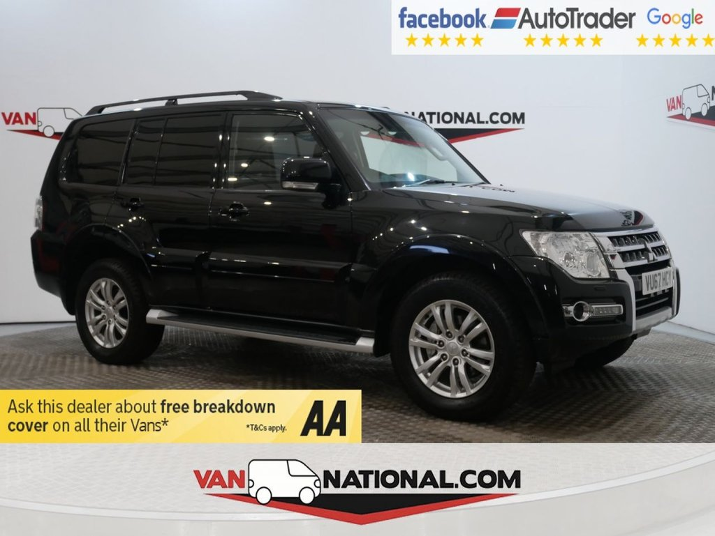 USED 2017 67 MITSUBISHI SHOGUN 3.2 DI-D 4WORK SG2 187 BHP AUTOMATIC ( AIR CON LWB EURO 6) * ONE OWNER * EURO 6 * AUTO * ZERO DEPOSIT FINANCE AVAILABLE *